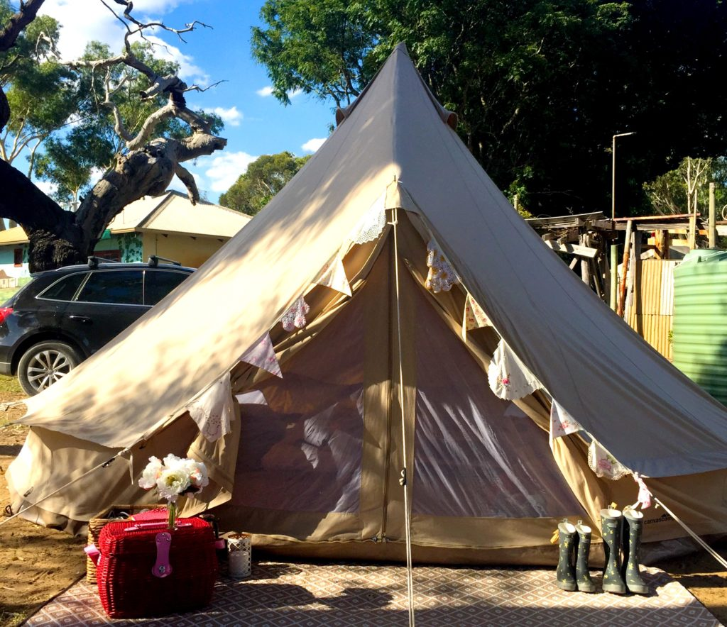 Glamping. Glamorous Camping Under The Little Top